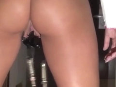 MILF in the hotel with screws in her pussy