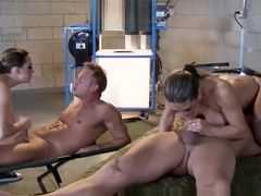 BRAZZERS - Supper sluts Chanel Preston & Rachel RoXXX fucks soilders