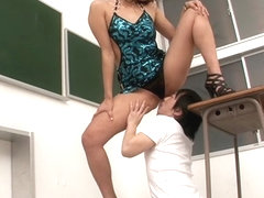 Fabulous Japanese girl Miwako Yamamoto in Incredible cunnilingus, couple JAV video