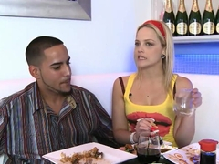 Blonde babe Alexis Texas is fucking with her man
