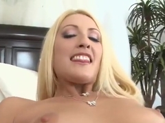 Admirable fair-haired young slut Amanda Logue featuring blowjob video