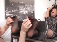 Laced dress teacher armpits tickled