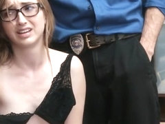 Nerdy Teen Thief Gets Caught And Fucked By Security