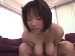 Saggy tits Japanese milf fucked and creampied