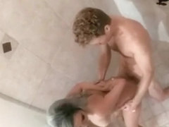 Aaliyah Hadid fucks her best friend's boyfriend in the shower
