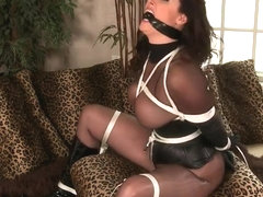 Full nylon bodystocking bondage
