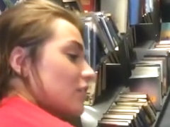 Perfectly Tight College Pussy Gets Porked In Public Library