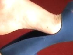 Blue open toes