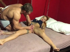 Multiple orgasm of a young beautiful fitness model