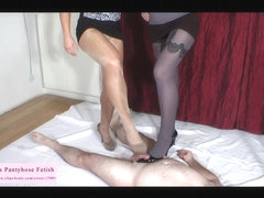 Shoejob domination and huge jizz flow on shoes trailer