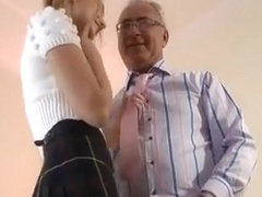 Dilettante Babe Enjoys A Fuck Session With An Older Guy