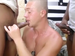 Hot young military gay Staff Sergeant knows what is best for us.