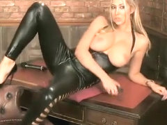 lexi lowe babestation leather catsuit