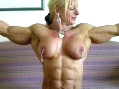 Female bodybuilder blowjob