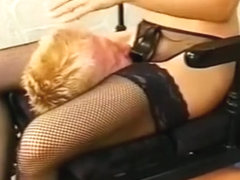 Older Lad Gets Dominated By A Couple Of Busty Chicks