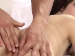 Gorgeous Latina Brunette Gets Sensual Massage From Sexy Masseur