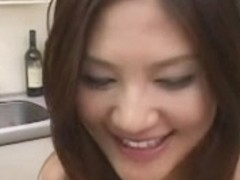 Azusa Ayano enjoys sex cream on food