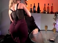 Amber Michaels Anal Fucked In Restaurant