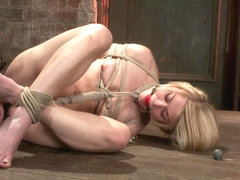 Hot Blond's Nipples Are Abuse, Feet Tickled, Pussy Fucked With A Stick, Made To Cum Like A Whore. .