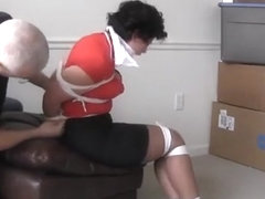 SAHRYE TIED UP TIGHT & RIGHT & GAGGED!