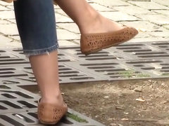 Candid peep toe,In Shoe Toe wiggling,Shoe play and Dangling
