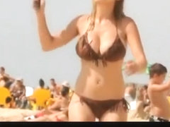 Beach down blouse Bouncing titties