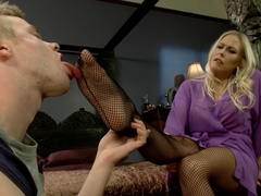 Best fetish, milf porn movie with crazy pornstars Cliff Adams and Angel Allwood from Footworship