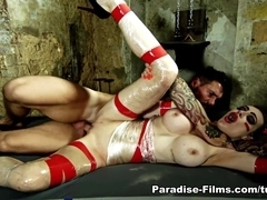 Dean Van Damme & Chessie Kay in Busty Blonde Gets Captured - Paradise-Films