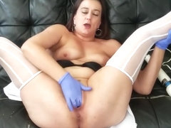 Medical gloves speculum pussy stretch and fisting