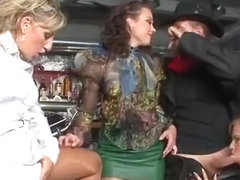 Staggered Bombshell In Lingerie Is Geeting Pissed On And Dri