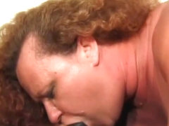 Mature Fat Redhead In Sexy Lingerie Double Teamed