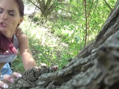 Woodland Fuck With Hungarian Hottie - PublicAgent