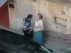Making out on the street