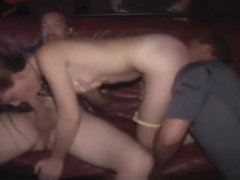 Exhibitionist amateur gangbang fun