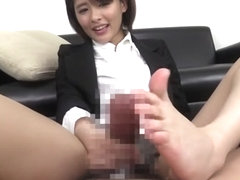Best Japanese model in Hottest Handjob, HD JAV movie