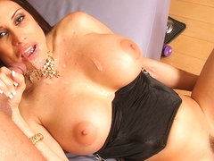 For sheila marie club tug job busty mature here against