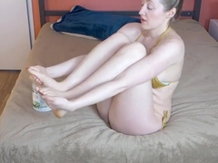 Rose Kelly Youtuber Coconut oil leg and foot rub