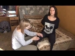 Bare ass girl spanking gif