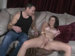 Sexy young babe sucks big insatiable dick