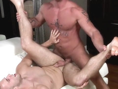 Anal loving bottom hunk sucks and fucked