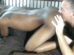 European gay licks a point and fucks with his black friend from America!