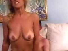 Loud moaning mature fucks younger guy