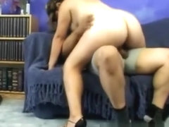 Hairy pregnant latin loves cowgirl