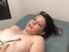 Busty brunette lizzy flashes her big tits in public