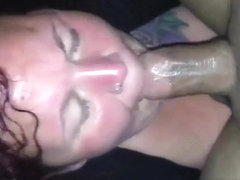 Face fucking session with a skillful dick craving cute wife