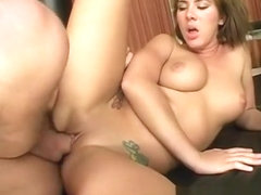 Stacked blonde milf Camryn Kiss has her hung trainer banging her pussy