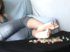 Selena crushing candies footlifestyle