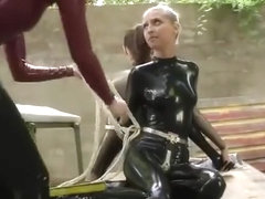 Latex catsuit xxx