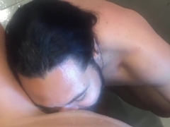 Watch me fuck this Asian babe in the shower and cum on her face