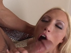Beautiful and passionate blonde Cassie Young takes it inside